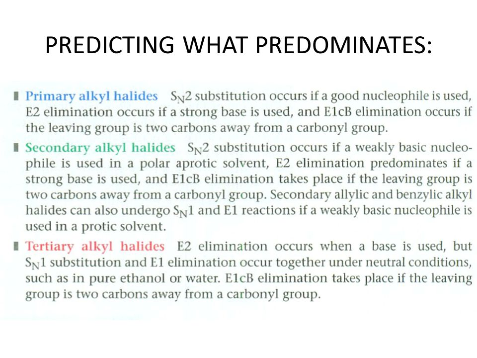 PREDICTING WHAT PREDOMINATES: