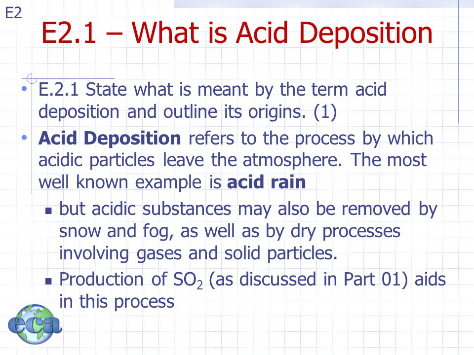 E2.1 – What is Acid Deposition