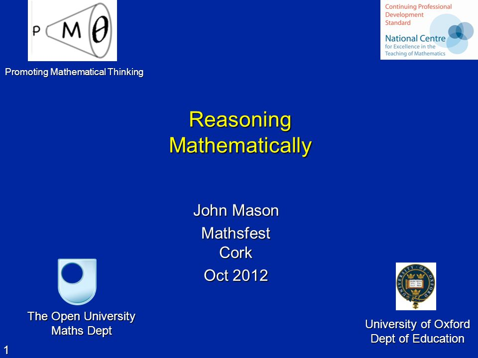 Reasoning Mathematically