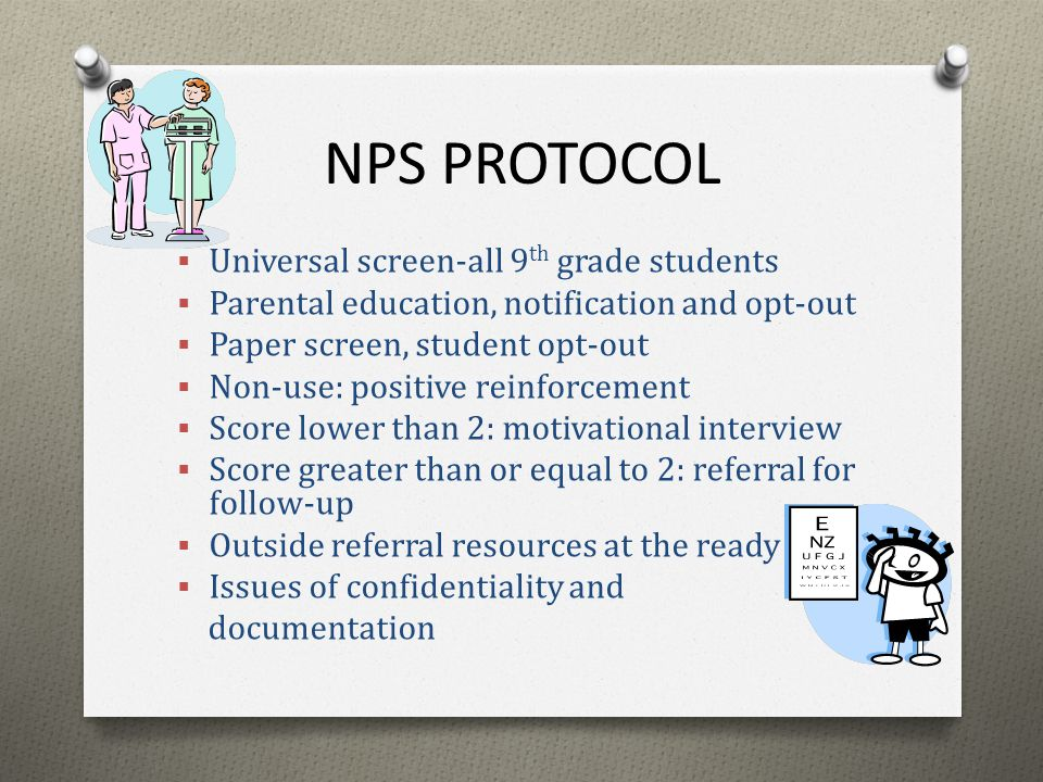 NPS PROTOCOL Universal screen-all 9th grade students