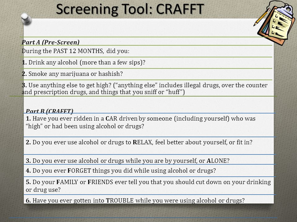 Screening Tool: CRAFFT