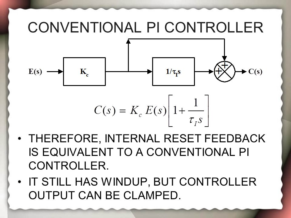 Conventional PI Controller