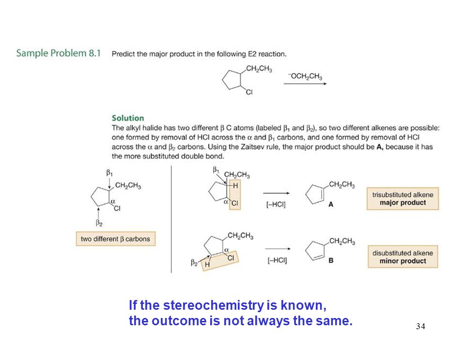If the stereochemistry is known,