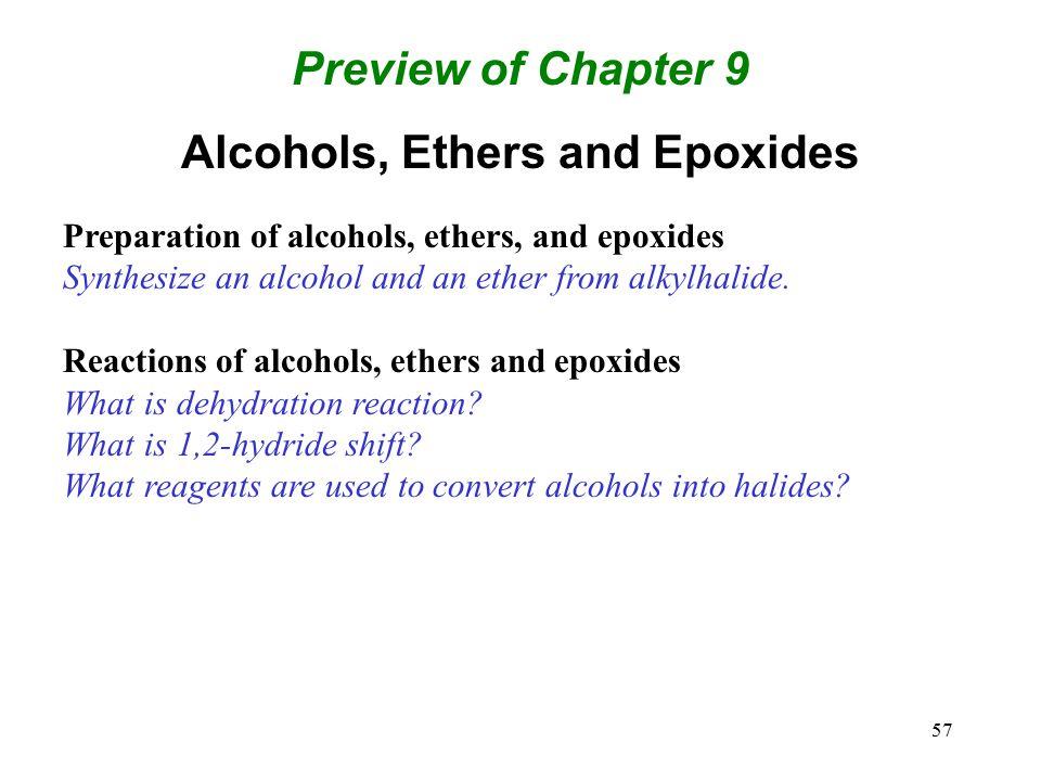 Alcohols, Ethers and Epoxides