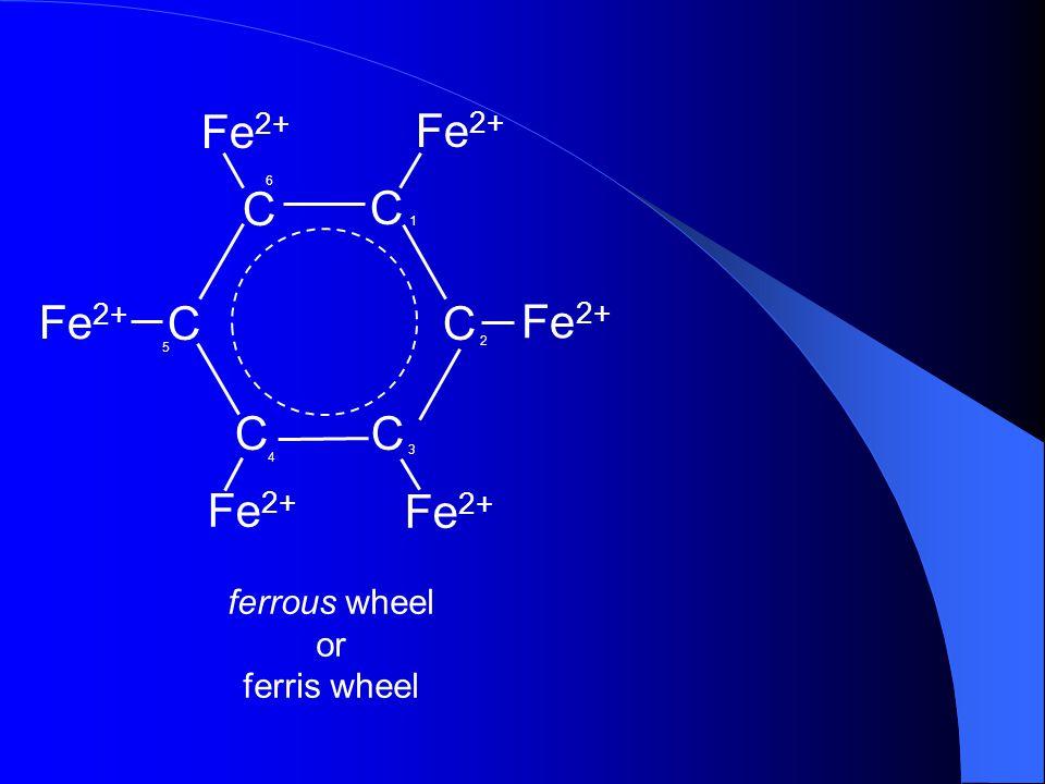 C Fe2+ 6 1 5 2 3 4 ferrous wheel or ferris wheel