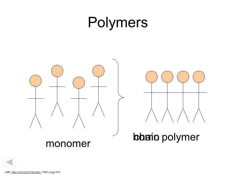 Polymers homo chain polymer monomer