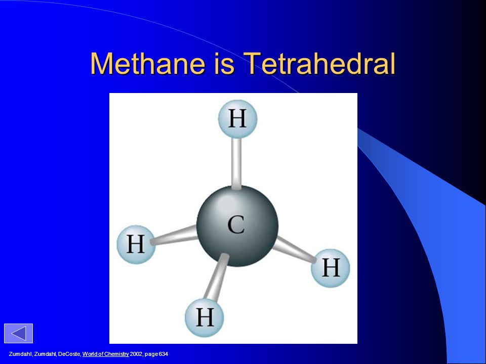 Methane is Tetrahedral