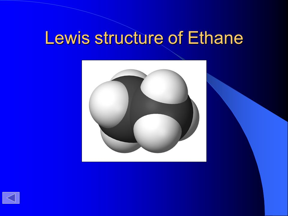 Lewis structure of Ethane