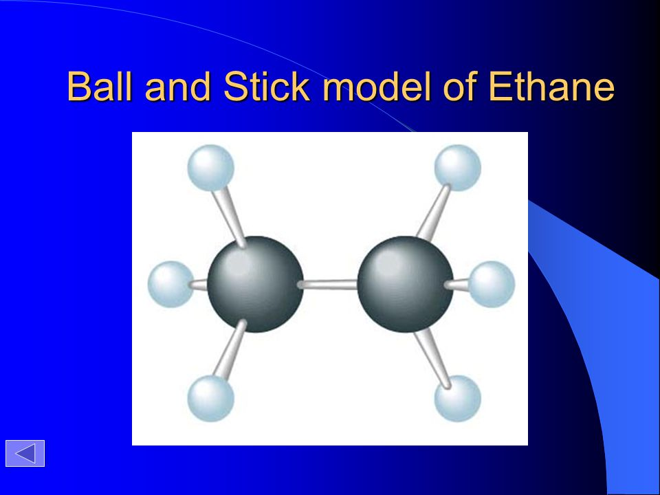 Ball and Stick model of Ethane