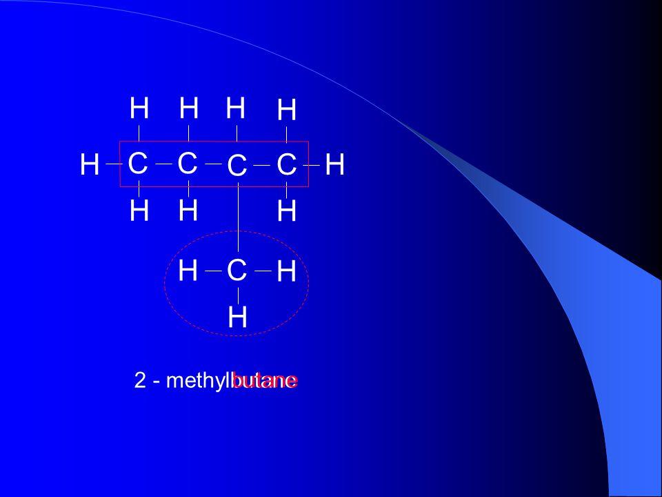 H C 2 - methylbutane butane