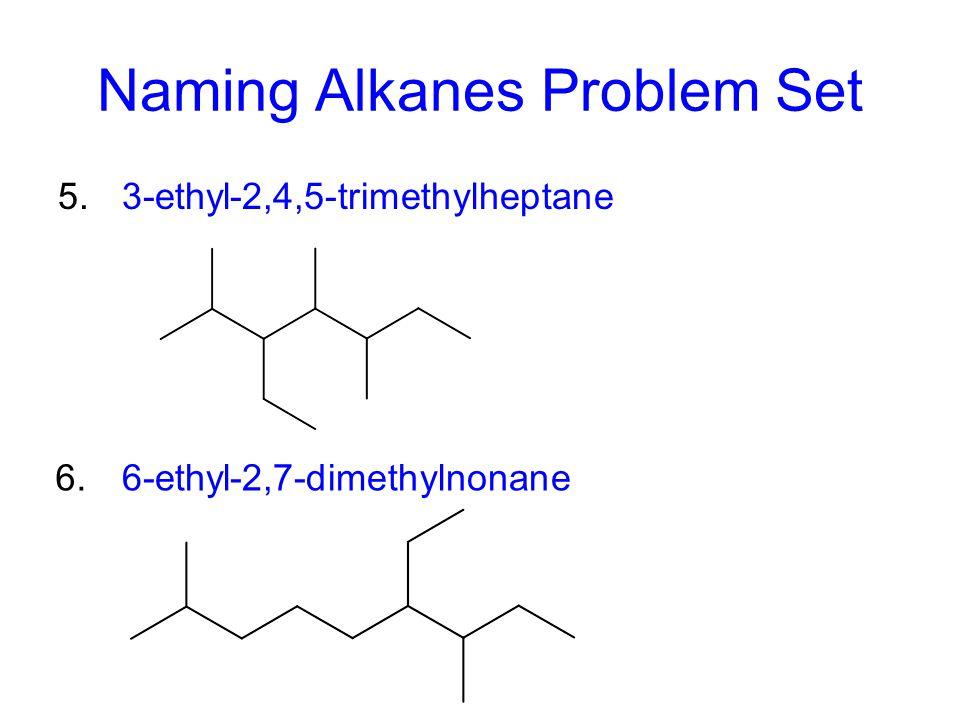 Naming Alkanes Problem Set