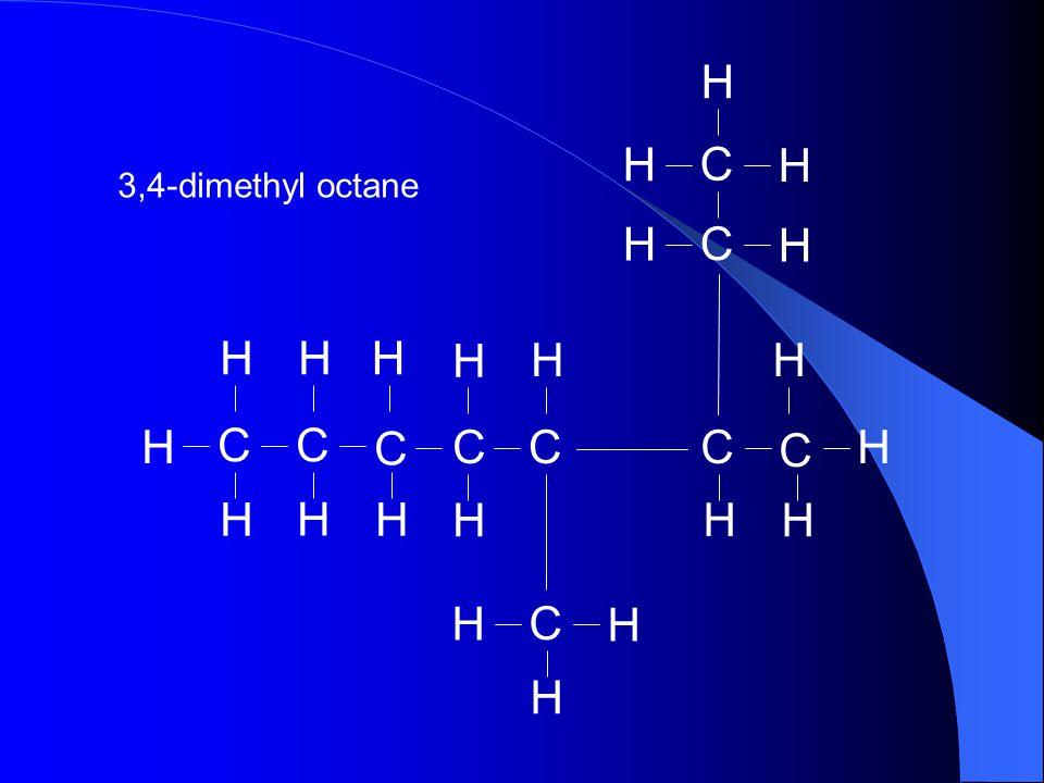 H C 3,4-dimethyl octane