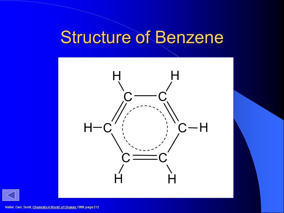 Structure of Benzene H H C C H C C H C C H H