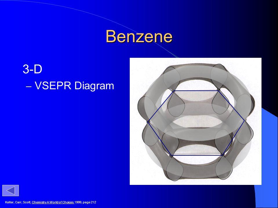 Benzene 3-D VSEPR Diagram