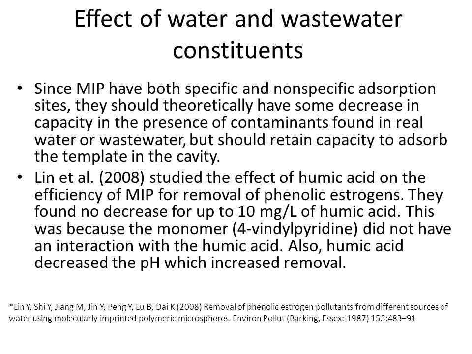 Effect of water and wastewater constituents