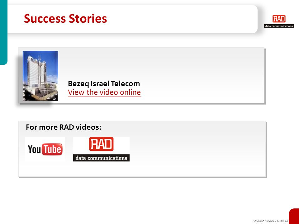 Success Stories Bezeq Israel Telecom View the video online