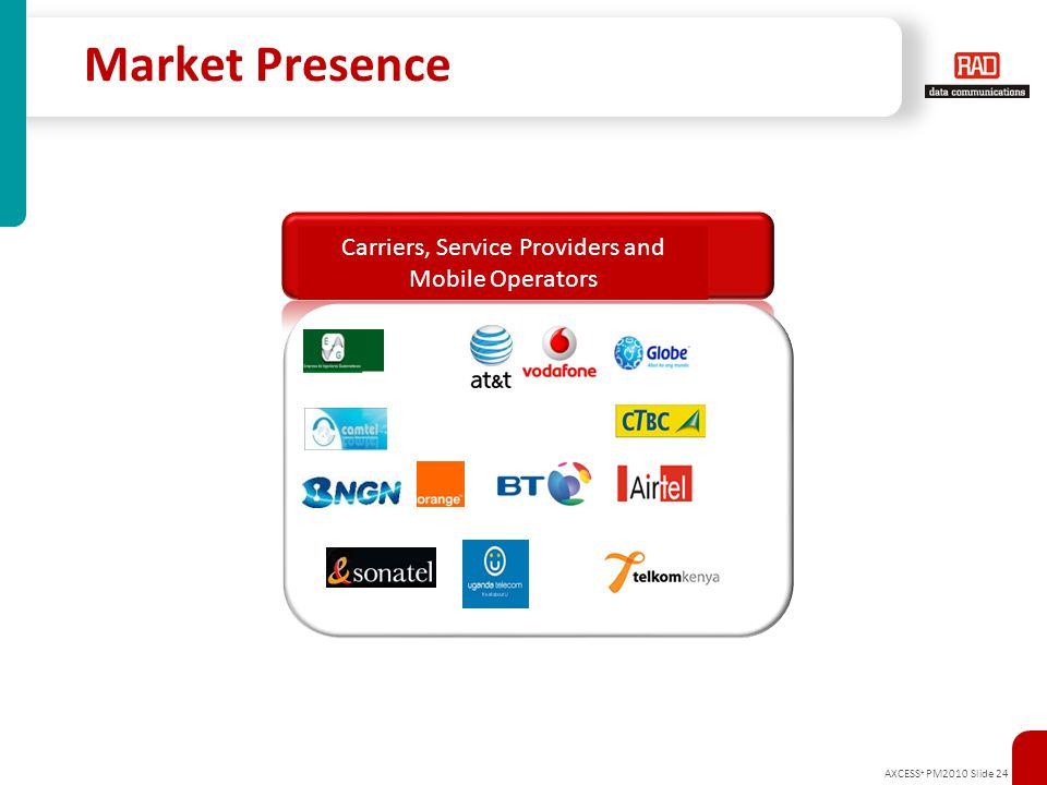 Carriers, Service Providers and Mobile Operators