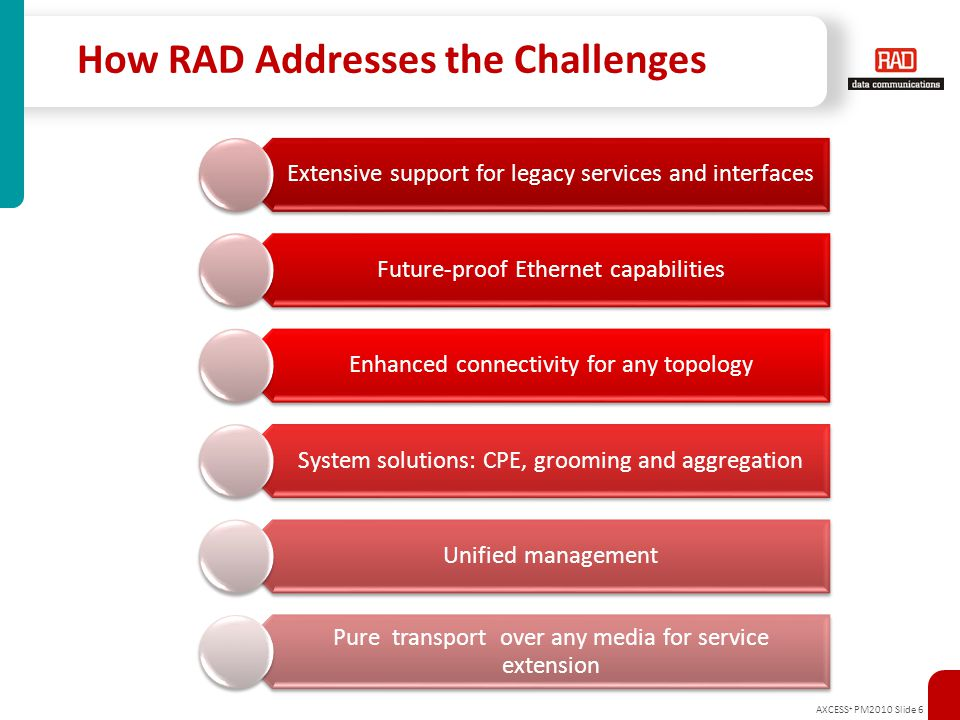 How RAD Addresses the Challenges
