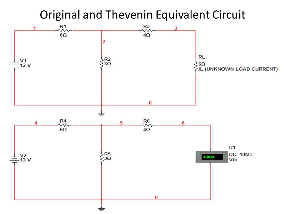 Original and Thevenin Equivalent Circuit