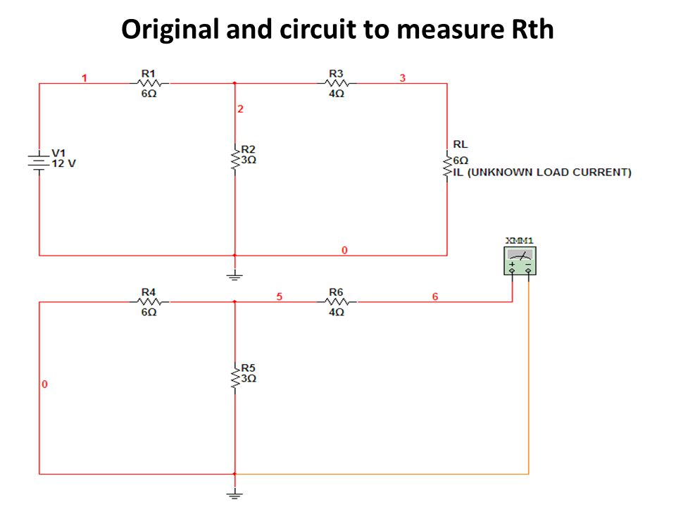 Original and circuit to measure Rth