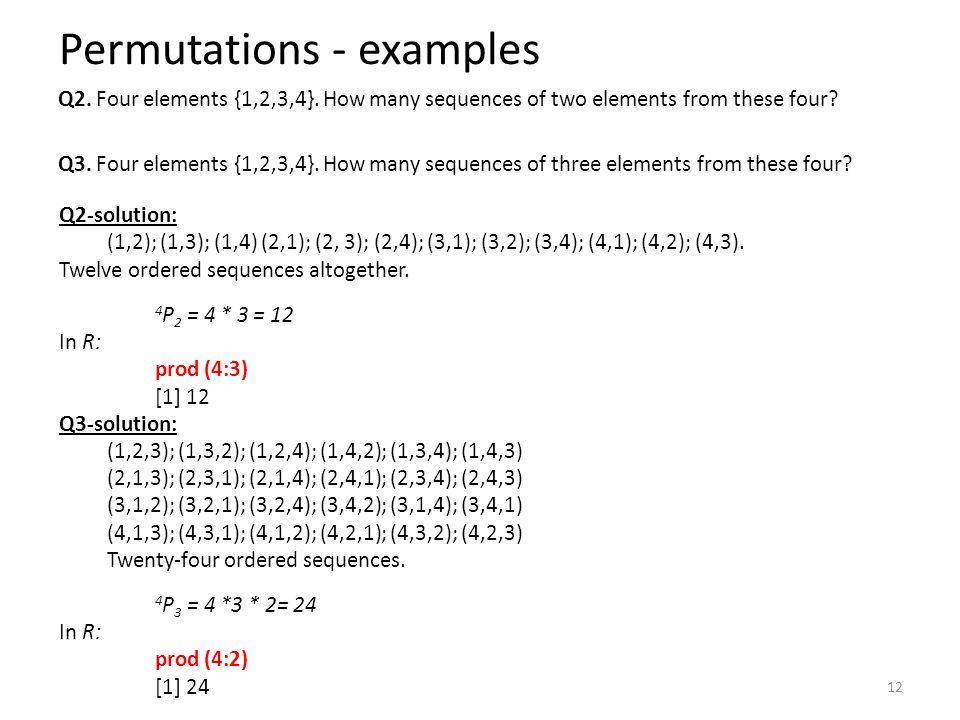 Permutations - examples
