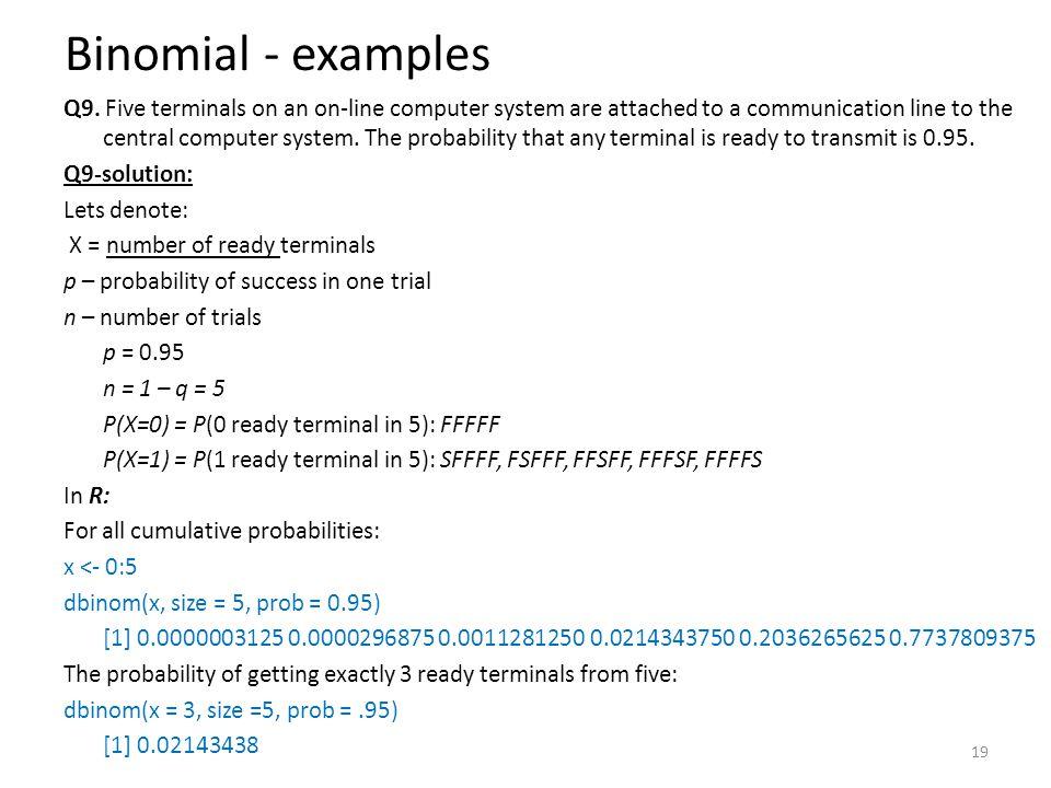 Binomial - examples