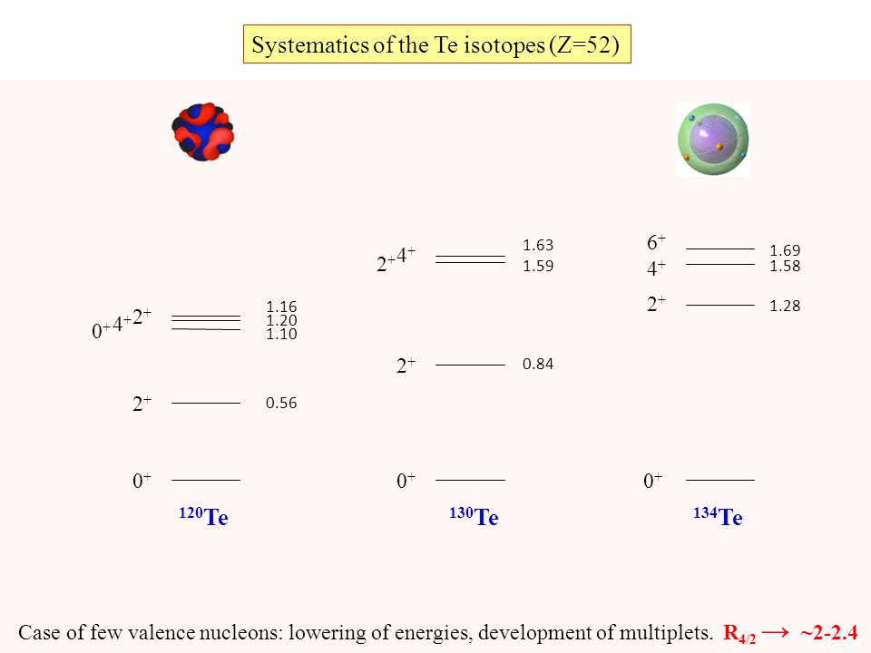 Systematics of the Te isotopes (Z=52) (Z = 52)