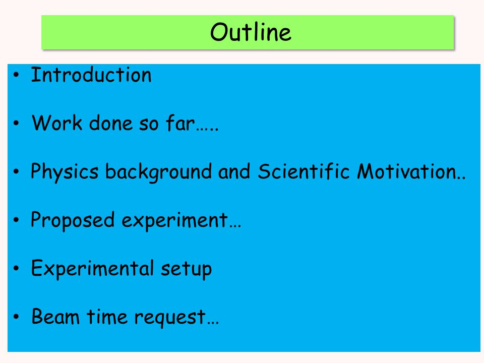 Outline Introduction Work done so far…..