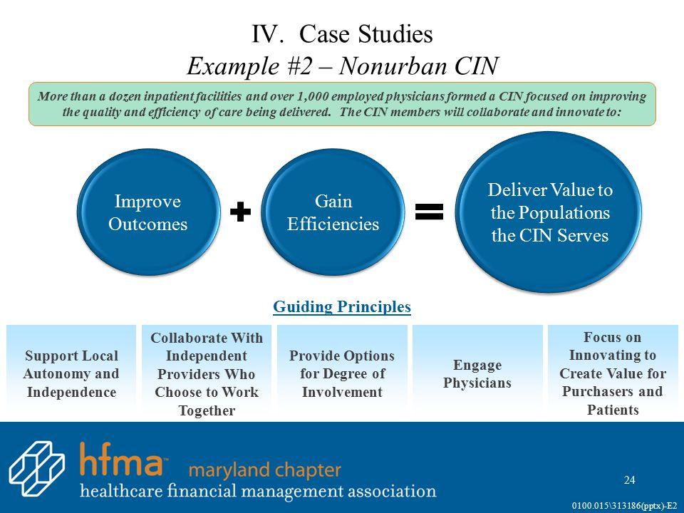 IV. Case Studies Example #2 – Nonurban CIN (continued)