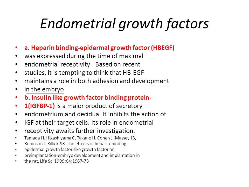 Endometrial growth factors