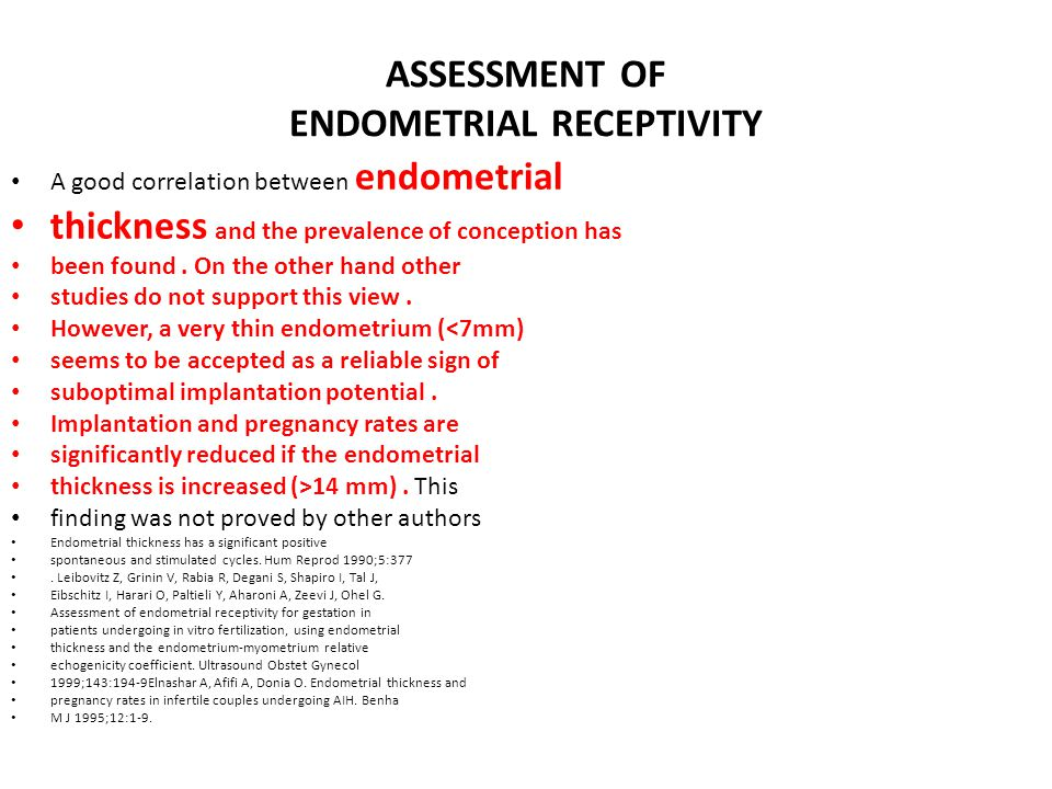 ASSESSMENT OF ENDOMETRIAL RECEPTIVITY