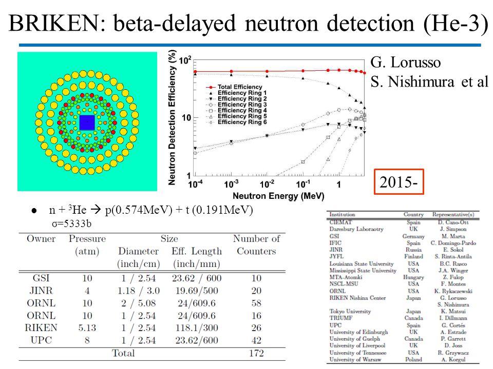 BRIKEN: beta-delayed neutron detection (He-3)