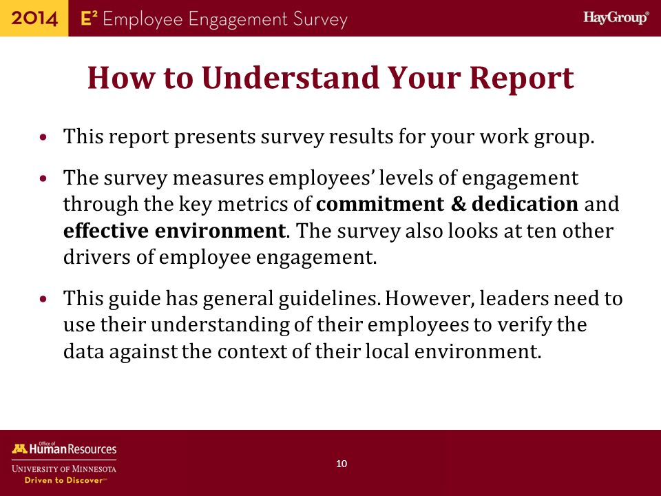How to Understand Your Report