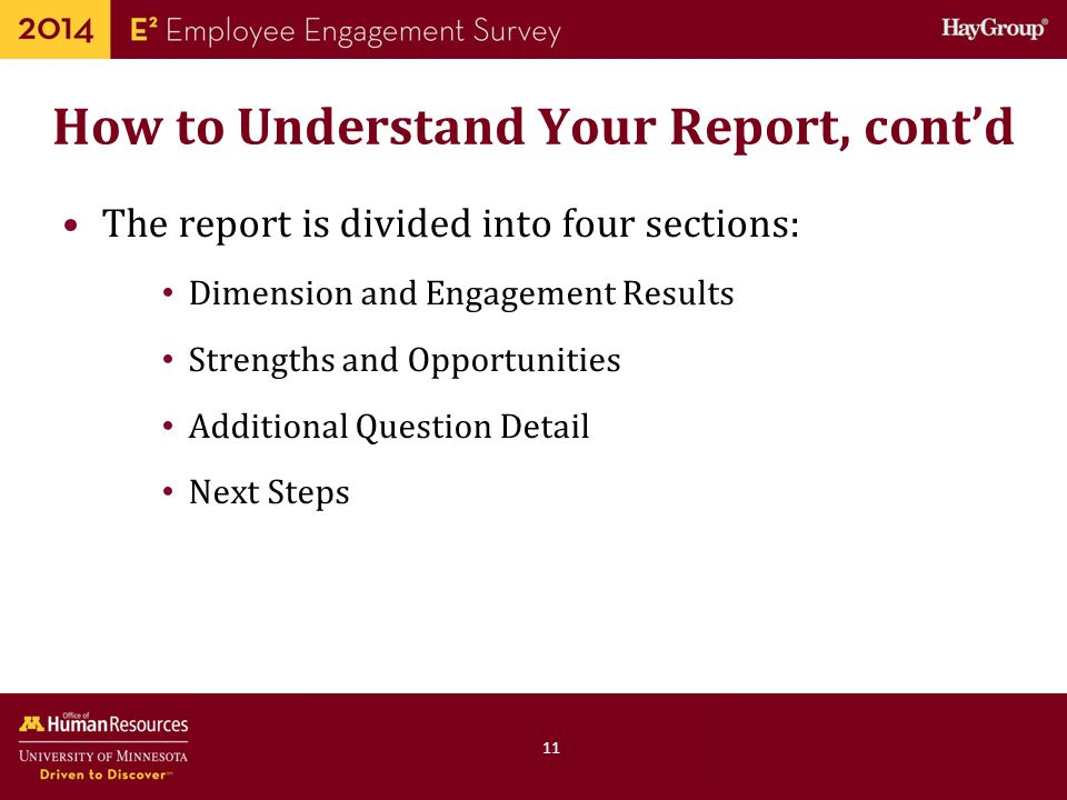 How to Understand Your Report, cont'd
