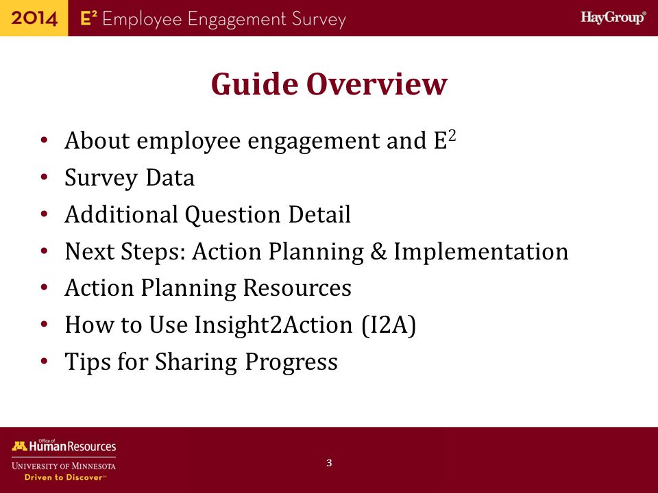 Guide Overview About employee engagement and E2 Survey Data