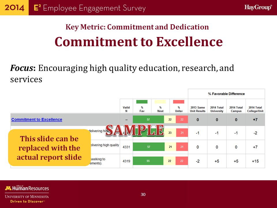 SAMPLE Commitment to Excellence