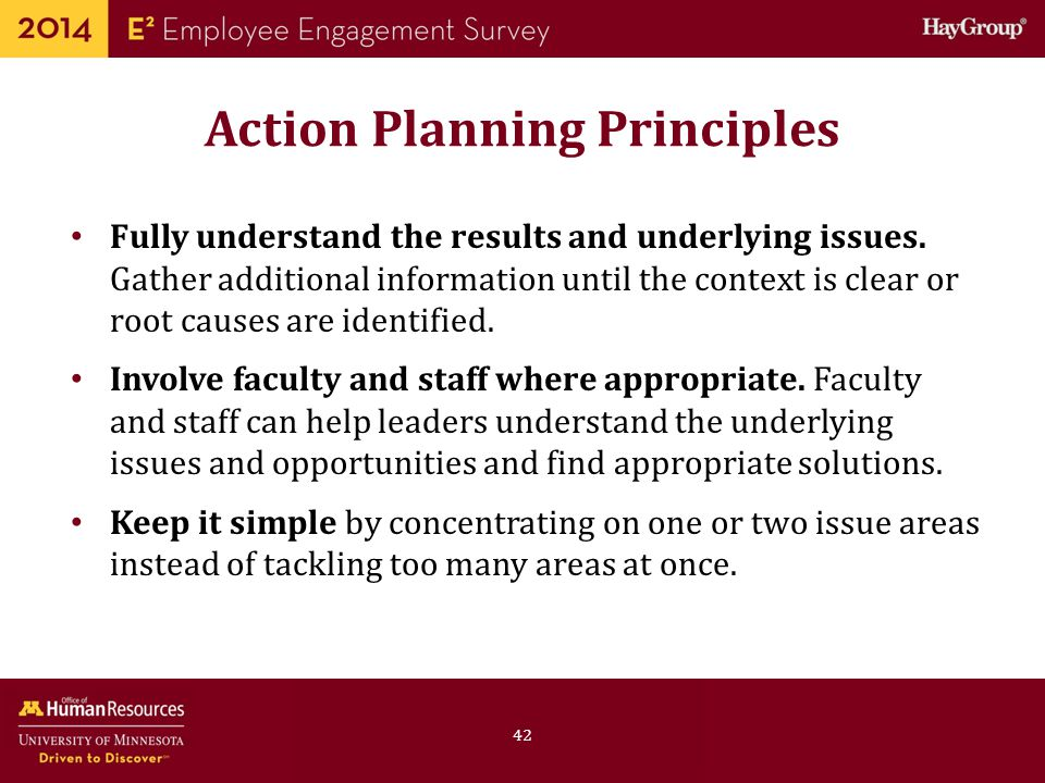 Action Planning Principles
