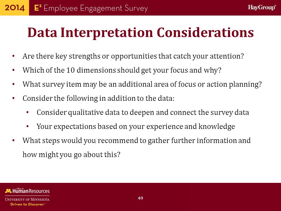 Data Interpretation Considerations