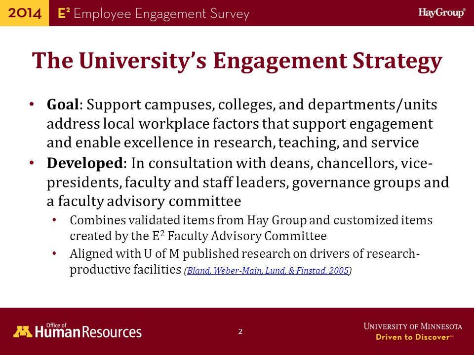 The University's Engagement Strategy
