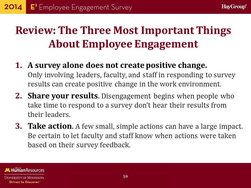 Review: The Three Most Important Things About Employee Engagement