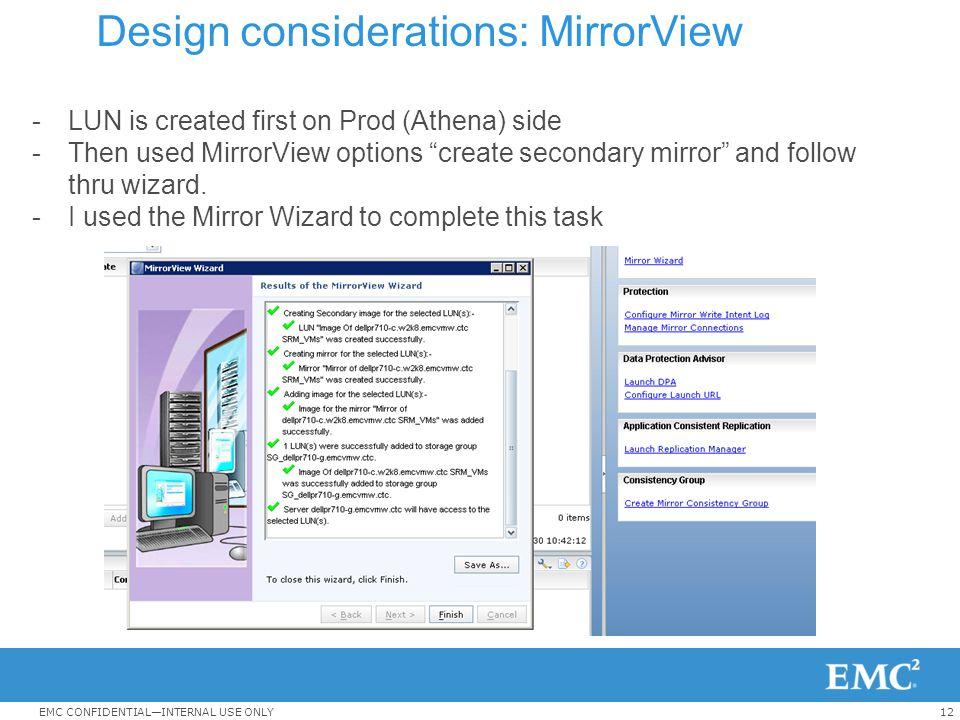 Design considerations: MirrorView