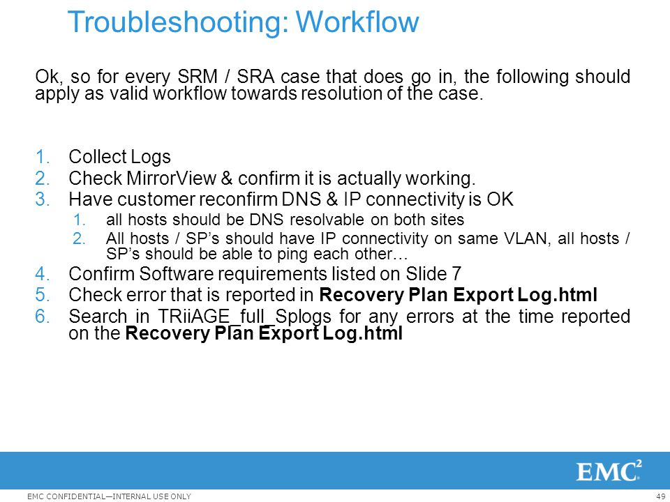 Troubleshooting: Workflow