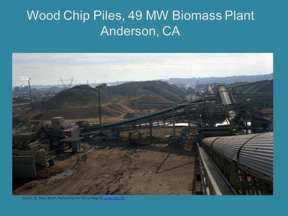 Wood Chip Piles, 49 MW Biomass Plant Anderson, CA