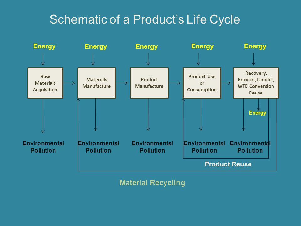 Schematic of a Product's Life Cycle