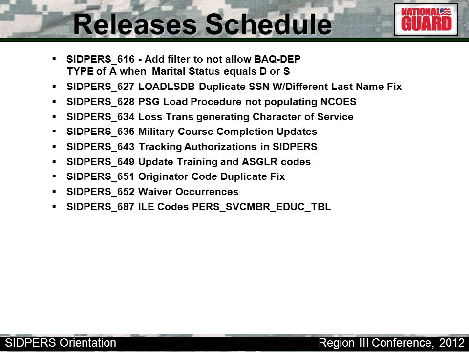 Releases Schedule SIDPERS_616 - Add filter to not allow BAQ-DEP TYPE of A when Marital Status equals D or S.