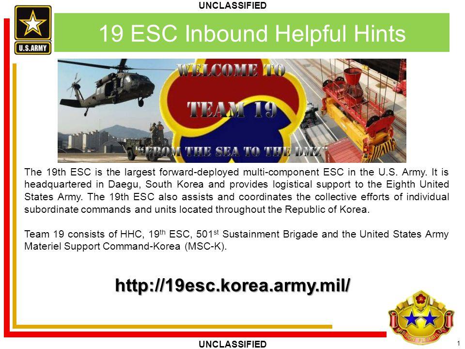19 ESC Inbound Helpful Hints
