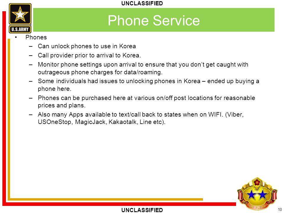Phone Service Phones Can unlock phones to use in Korea