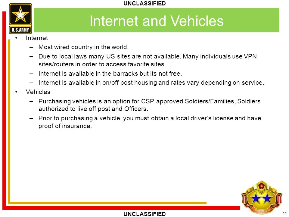 Internet and Vehicles Internet Most wired country in the world.