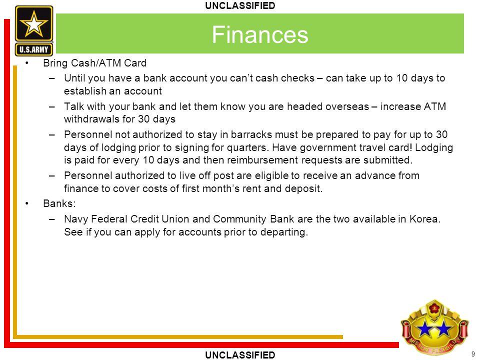 Finances Bring Cash/ATM Card