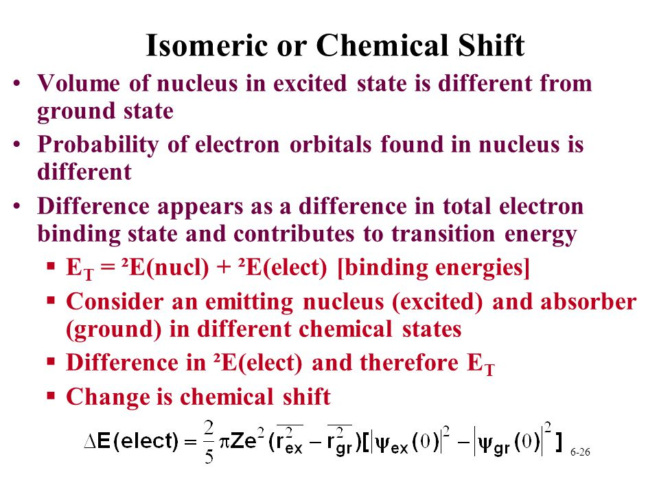 Isomeric or Chemical Shift